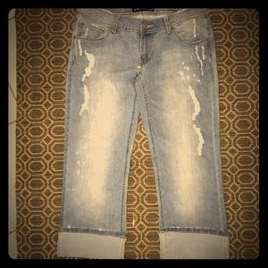 Angels Cropped Jeans w/Rips (Sz 11)